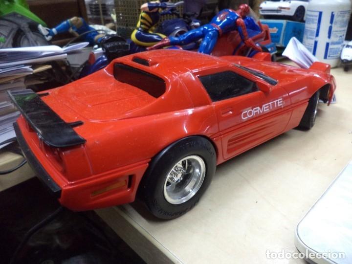 Coches a escala: Chevrolet Corvette teledirigido.New Bright 1990.Esc.1/15 aprox. - Foto 3 - 146492982