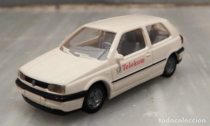 COCHE TELEKOM VW GOLF 1/87 - MINIATURA - WIKING (Juguetes - Coches a Escala Otras Escalas )
