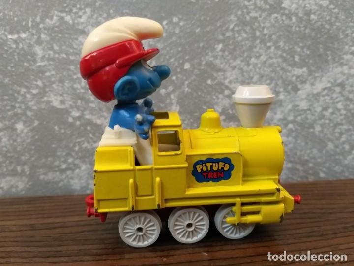 Coches a escala: coche guisval tren locomotora pitufos pitufo pvc peyo vintage años 80 - Foto 2 - 148814454