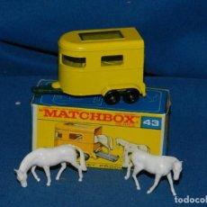 Coches a escala: (M) MATCHBOX SERIES 43 PONY TRAILER CON CAJA, COMPLETO, BUEN ESTADO. Lote 150124726