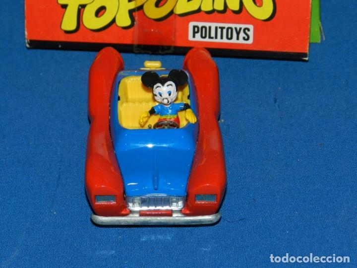 Coches a escala: (M) POLITOYS L'AUTOMOBILE DI TOPOLINO MICKEY MOUSE CON CAJA ,COCHE EN BUEN ESTADO CAJA CON ROTURITAS - Foto 4 - 150222274