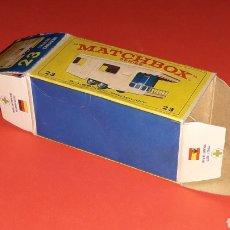 Coches a escala: CAJA *VACÍA* EMPTY BOX, TRAILER CARAVAN REF. 23, LESNEY MATCHBOX ENGLAND, ORIGINAL AÑOS 60.. Lote 151657105