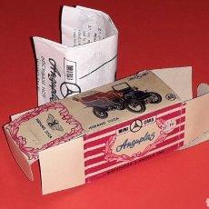 Coches a escala: CAJA VACÍA EMPTY BOX HISPANO SUIZA Nº 40, ESC. 1/86 H0, ANGUPLAS MINI-CARS. ORIGINAL AÑO 1960.. Lote 151907030