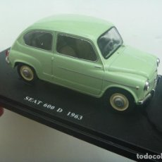 Coches a escala: MINIATURA DE COCHE : SEAT 600 D , 1963 . MATRICULA DE SEGOVIA. Lote 207266162