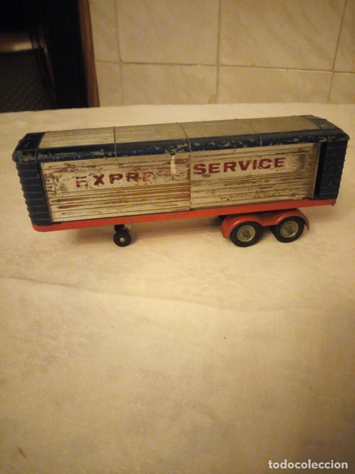 Coches a escala: trailer articulado corgi major toys made in gt britain ,express service. metálico. - Foto 2 - 153867230