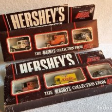 Coches a escala: DOS SET DE COCHES HERSHEY'S DE LLEDO METAL ESCALA 1/43 DIE CAST LONDON (6 COCHES) COLECCION. Lote 153884678