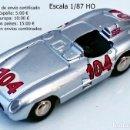 Coches a escala: BUB REF 08250 EDITION 2006 / MERCEDES BENZ 300 SLR 104 SIEGER TARGA FLORIO 1955. Lote 153894322
