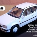 Coches a escala: OXFORD OPEL KADETT VAUXHALL ASTRA GTE. Lote 153913982