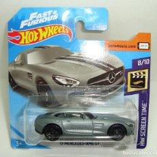 Model Cars - MERCEDES AMG GT FAST & FURIOUS HOT WHEELS ESCALA 1:64 - 155841270
