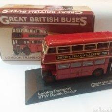 Coches a escala: BUS LONDRES CON CAJA RTW DOUBLE DECKER. Lote 156671576