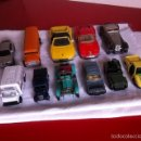 Coches a escala: LOTE 11 COCHES. VARIAS MARCAS. GUILOY /GUISVAL /MAISO/LESNEY/PLAYME. Lote 160689056