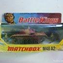 Coches a escala: BATTLE KINGS MATCHBOX M48-A2. EN SU CAJA ORIGINAL. Lote 160944918