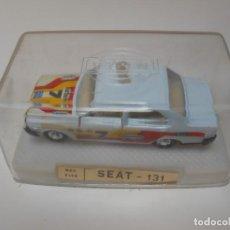 Coches a escala: 2628 MIRA COCHE SEAT 131 BLANCO RALLY RALLYE REF 2148 1/64 1:64 MODEL CAR MINITAURE FIAT. Lote 160967990