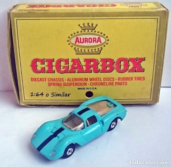 AURORA CIGAR BOX REF 6111 FERRARI DINO - MADE IN USA (Juguetes - Coches a Escala Otras Escalas )