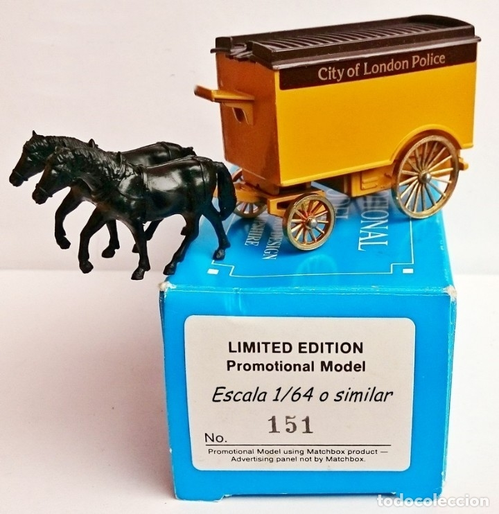 MATCHBOX PROMOTIONAL MODEL LIMITED EDITION HORSE CITY OF LONDON POLICE / MODEL BY LLEDO (Juguetes - Coches a Escala Otras Escalas )