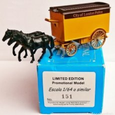 Coches a escala: MATCHBOX PROMOTIONAL MODEL LIMITED EDITION HORSE CITY OF LONDON POLICE / MODEL BY LLEDO. Lote 139001294