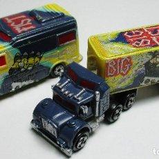 Auto in scala: LOTE 2 VEHÍCULOS, MICROMACHINES, FURGÓN Y CAMIÓN BIG FIST, GALOOB, LGTI, 1989. Lote 163563910