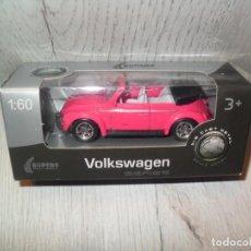 Coches a escala: COCHE VW BEETLE CONVERTIBLE SCALE MODELS 1:60 SUPER9 COCHE. Lote 166466386