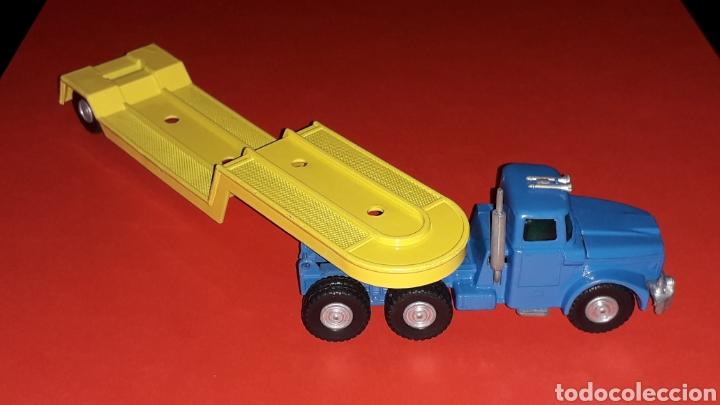 Coches a escala: Camión Scammell con plataforma, metal, esc. aprox. 1/64, Guisval Ibi made in Spain, original años 70 - Foto 2 - 167075768