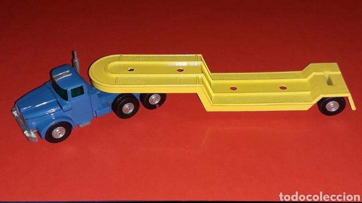 Coches a escala: Camión Scammell con plataforma, metal, esc. aprox. 1/64, Guisval Ibi made in Spain, original años 70 - Foto 3 - 167075768