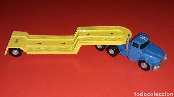 Coches a escala: Camión Scammell con plataforma, metal, esc. aprox. 1/64, Guisval Ibi made in Spain, original años 70 - Foto 5 - 167075768