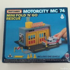 Coches a escala: CAJA MATCHBOX MOTORCITY MC 74 NUEVO, SIN USO. Lote 168316029