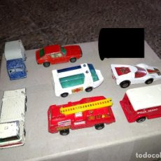 Coches a escala: MATCHBOX LOTE 7X COCHES VEHÍCULOS CAMIONES DIE-CAST METAL 1:64 3 INCHES PULGADAS. Lote 168880976