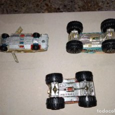 Coches a escala: GUISVAL LOTE 3X PEUGEOT 504 MONSTER TRUCKS METAL 1:64 3 INCHES PULGADAS DESGUACE. Lote 168881556