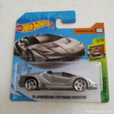 Auto in scala: HOT WHEELS ´16 LAMBORGHINI CENTENARIO ROADSTER - HW EXOTICS 5/10. Lote 169702872