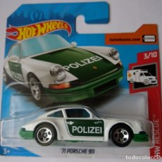 Carros em escala: HOT WHEELS ´71 PORSCHE 911. HW RESCUE 3/10. Lote 170480478
