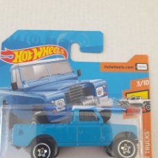 Coches a escala: HOT WHEELS LAND ROVER SERIES III PICKUP. Lote 218697733