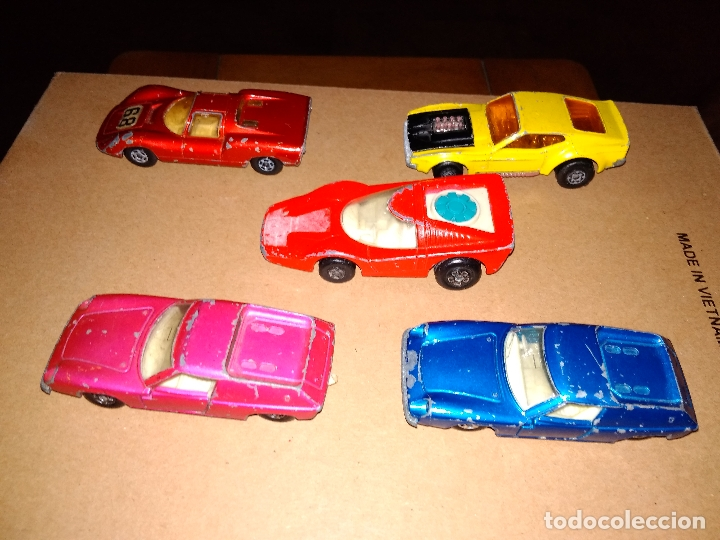MATCHBOX - LOTE 5 COCHES SUPERFAST 70S DIE-CAST 1:64 3 INCHES (Juguetes - Coches a Escala Otras Escalas )