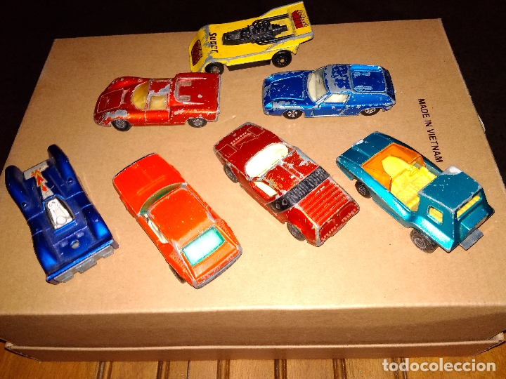 Coches a escala: MATCHBOX - LOTE 7x COCHES SUPERFAST 70s 80s DIE-CAST 1:64 3 INCHES - Foto 2 - 171239402