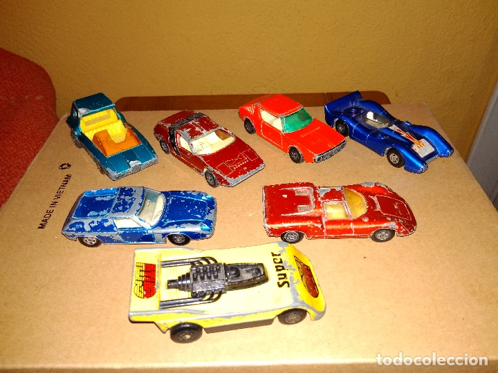 MATCHBOX - LOTE 7X COCHES SUPERFAST 70S 80S DIE-CAST 1:64 3 INCHES (Juguetes - Coches a Escala Otras Escalas )