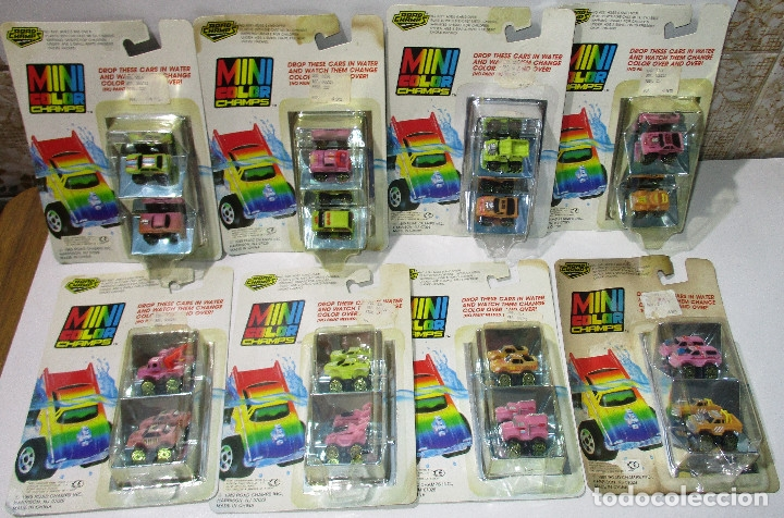 ROAD CHAMPS, ROADCHAMPS,MINI COLOR,8 BLISTERS, NUEVOS, 1989, SERIES Nº 1-2-3-4,SIMILAR MICROMACHINES (Juguetes - Coches a Escala Otras Escalas )