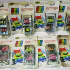 Coches a escala: ROAD CHAMPS, ROADCHAMPS,MINI COLOR,8 BLISTERS, NUEVOS, 1989, SERIES Nº 1-2-3-4,SIMILAR MICROMACHINES. Lote 119387027