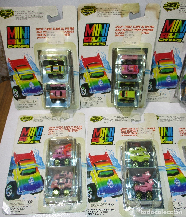 Coches a escala: ROAD CHAMPS, ROADCHAMPS,MINI COLOR,8 BLISTERS, NUEVOS, 1989, series nº 1-2-3-4,similar Micromachines - Foto 3 - 119387027
