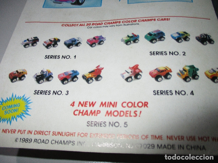 Coches a escala: ROAD CHAMPS, ROADCHAMPS,MINI COLOR,8 BLISTERS, NUEVOS, 1989, series nº 1-2-3-4,similar Micromachines - Foto 6 - 119387027