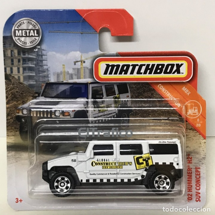 Nuovo in Matchbox 2019 40 Construction ´02 Hummer H2 SUV Concept