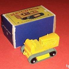 Coches a escala: CATERPILLAR TRACTOR REF. 8-D, METAL ESC. 1/100, LESNEY MATCHBOX ENGLAND, AÑO 1964. CON CAJA. Lote 172638414