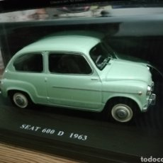 Coches a escala: SEAT 600D 1963 Y RENAULT 4L 1964. Lote 174560093