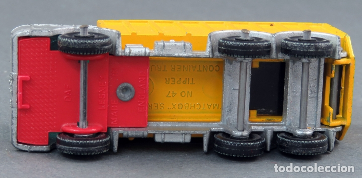 Coches a escala: Tipper Container Truck Lesney Matchbox nº 47 años 60 - Foto 3 - 175423975