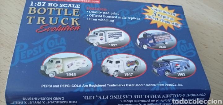 Coches a escala: Réplica camión de bebida Pepsi Cola por Atosa Bottle Truck Golden Wheel Escala 1:87. Nuevo - Foto 8 - 176497145