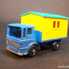 Coches a escala: MATCHBOX SERIES. Nº 60. SITE HUT TRUCK. MADE IN ENGLAND. 31 G. 6 CM. ESTADO 8 SOBRE 10.. Lote 177071895