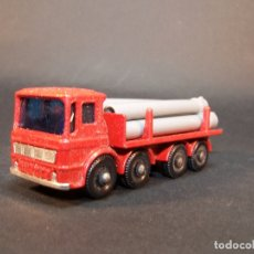 Coches a escala: MATCHBOX SERIES. Nº 10. PIPE TRUCK. CON 6 TUBOS. MADE IN ENGLAND. 37 G. 7 CM. ESTADO 9 SOBRE 10.. Lote 177072312