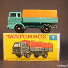 Coches a escala: MATCHBOX SERIES. Nº1. MERCEDES TRUCK. LESNEY. MADE IN ENGLAND. 45 G. 7 CM. ESTADO 9 SOBRE 10.. Lote 177073845