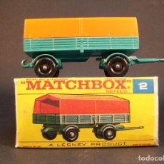 Coches a escala: MATCHBOX SERIES. Nº2. MERCEDES TRAILER. LESNEY. MADE IN ENGLAND. 43 G. 8 CM. ESTADO 9 SOBRE 10.. Lote 177074153
