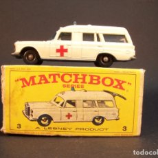 Coches a escala: MATCHBOX SERIES. Nº 3. MERCEDES BENZ BINZ AMBULANCE. MADE IN ENGLAND. 45 G. 7 CM. ESTADO 9 SOBRE 10.. Lote 177074768