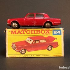 Coches a escala: MATCHBOX SERIES. Nº 24. ROLLS ROYCE SILVER SHADOW. MADE IN ENGLAND. 45 G. 7,5 CM. ESTADO 8 SOBRE 10.. Lote 177207123