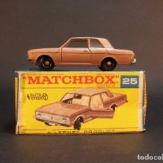 Coches a escala: MATCHBOX SERIES. Nº 25. FORD CORTINA. LESNEY. MADE IN ENGLAND. 37 G. 7 CM. ESTADO 7 SOBRE 10.. Lote 177207517